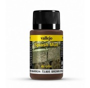 Vallejo Brown Splash Mud Weathering Effects - 40ml - 73805
