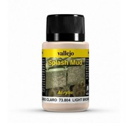 Vallejo Light Brown Splash Mud Weathering Effects - 40ml - 73804