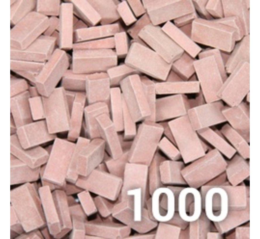 Rood medium baksteen 1:35 - 1000x - 23024