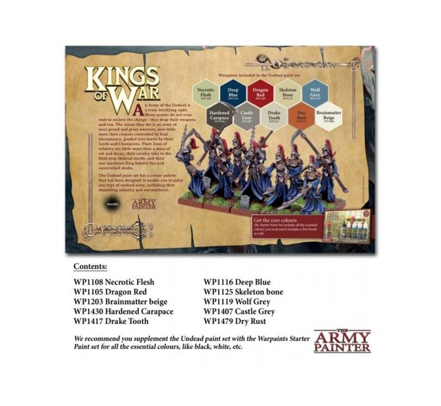 Warpaints Kings of War Undead Paint Set - 10 kleuren - 17ml -  WP8016