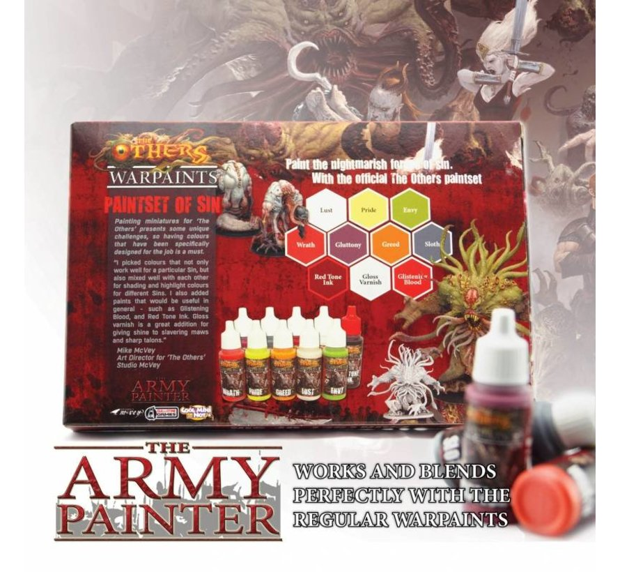 Warpaints The Others Paint Set van Sin - 10 kleuren - 17 ml - WP8010