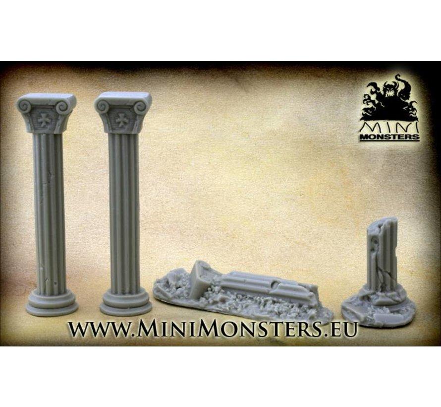 Ionic Ruined Columns - 4x - MM-0010