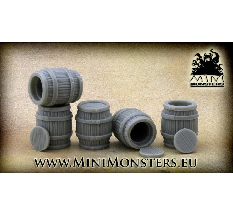 Big Wooden Barrels - 5st - MM-37