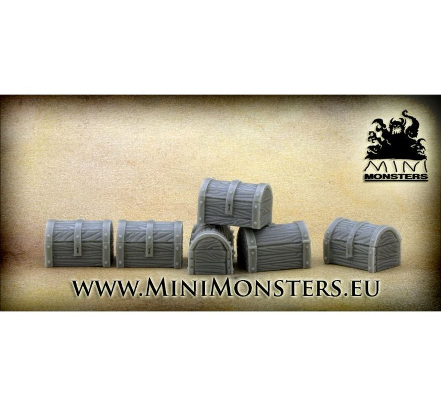 Wooden Chests - 6x - MM-0063