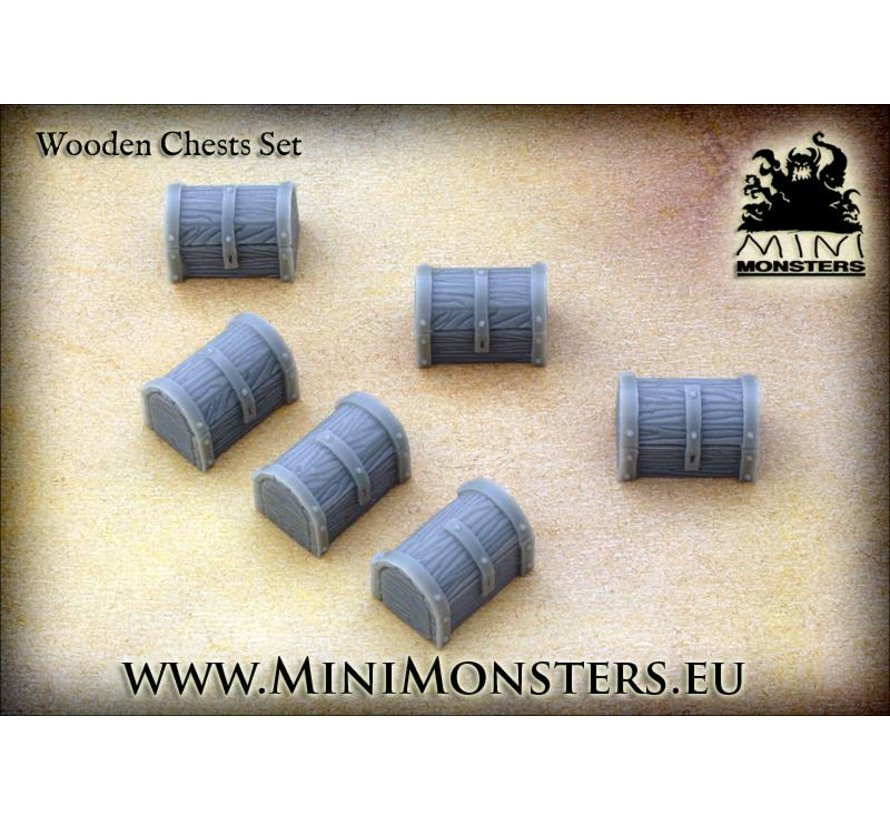Wooden Chests - 6st - MM-38