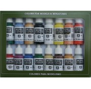 Vallejo Model Color Set Basic Colors USA - 16 kleuren - 17ml - 70140