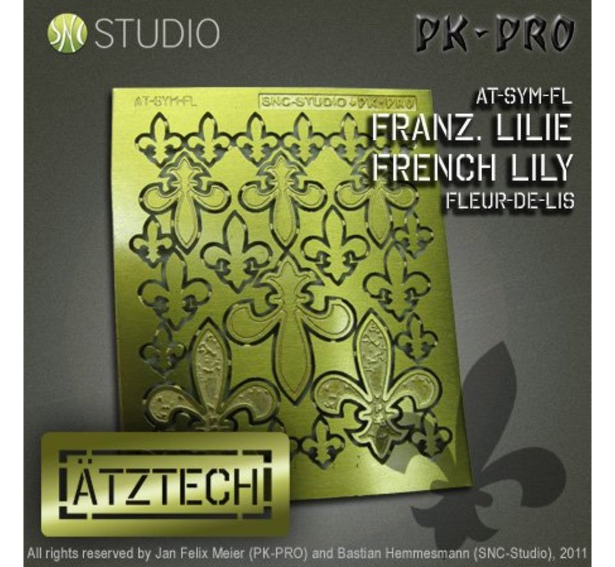 Ätztech Franse Lelies - Photo-Etch - AT-SYM-FL-1