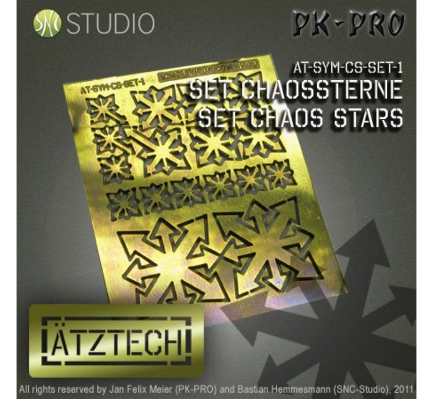 Chaos Sterren - Photo-Etch - AT-SYM-CS-SET-1