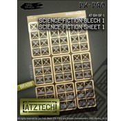 Ätztech Science Fiction Wandplaten - Photo-Etch - AT-SH-SF-1