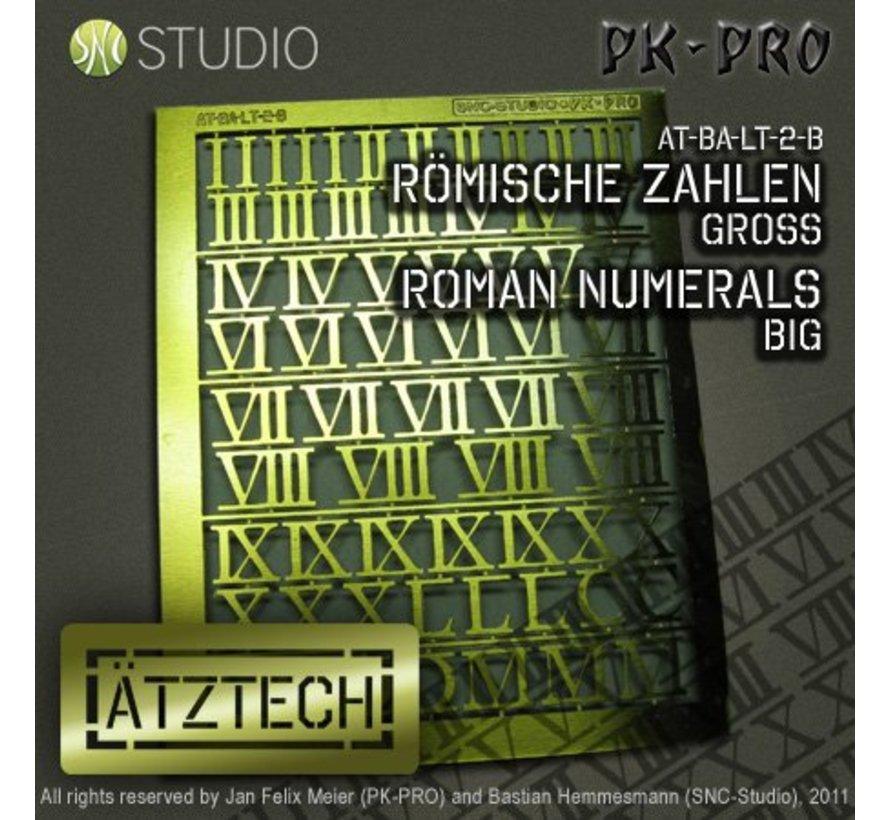 Ätztech Romeinse Cijfers Groot - Photo-Etch - AT-BA-LT-2-B