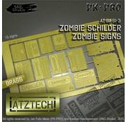 Ätztech Zombies Waarschuwingsborden - Photo-Etch - AT-BA-SI-3