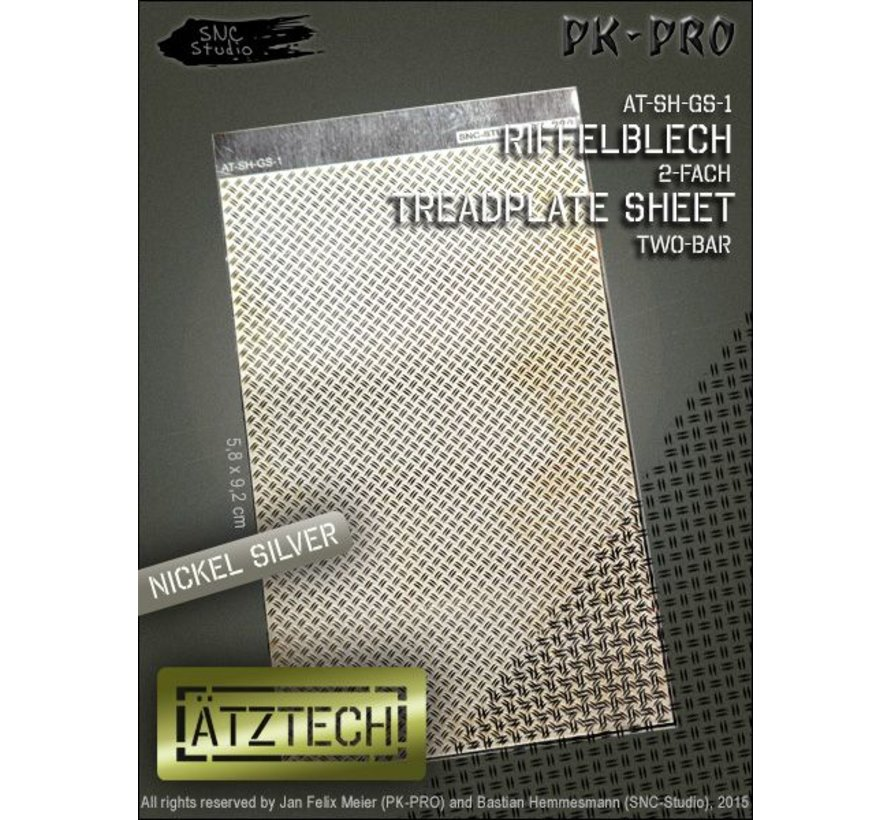 Ätztech Dubbele Traanplaat - Photo-Etch - AT-SH-GS-1