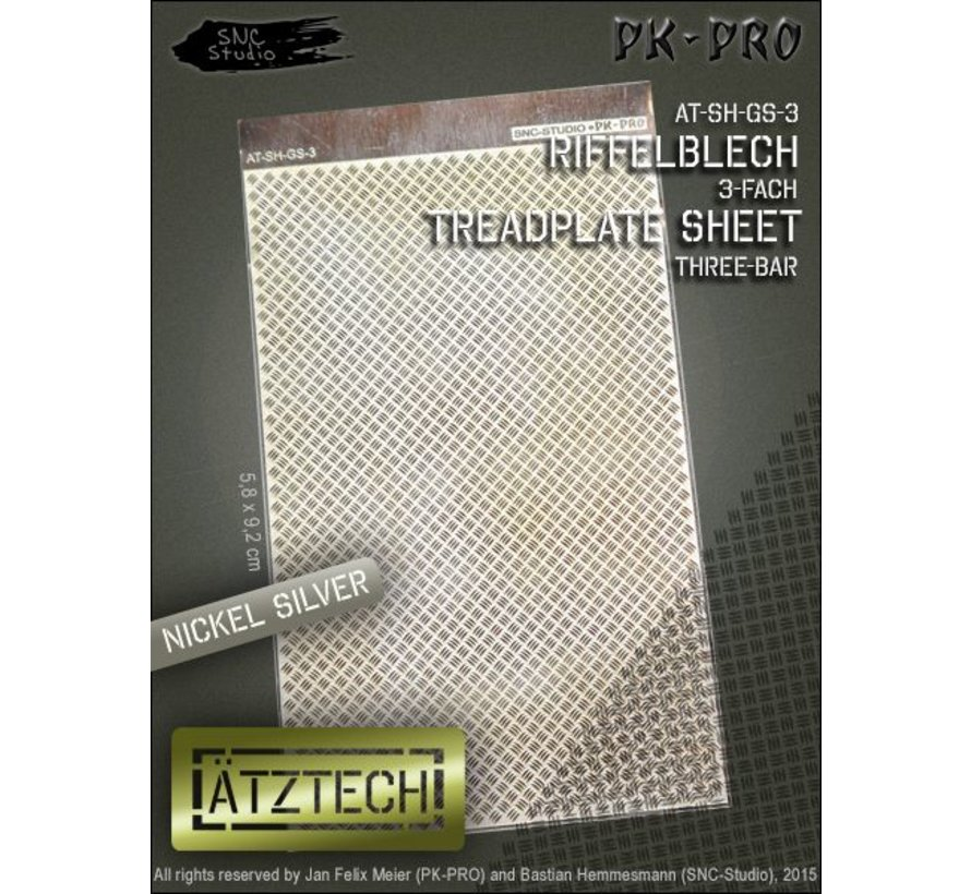 Ätztech Triple Traanplaat - Photo-Etch - AT-SH-GS-3