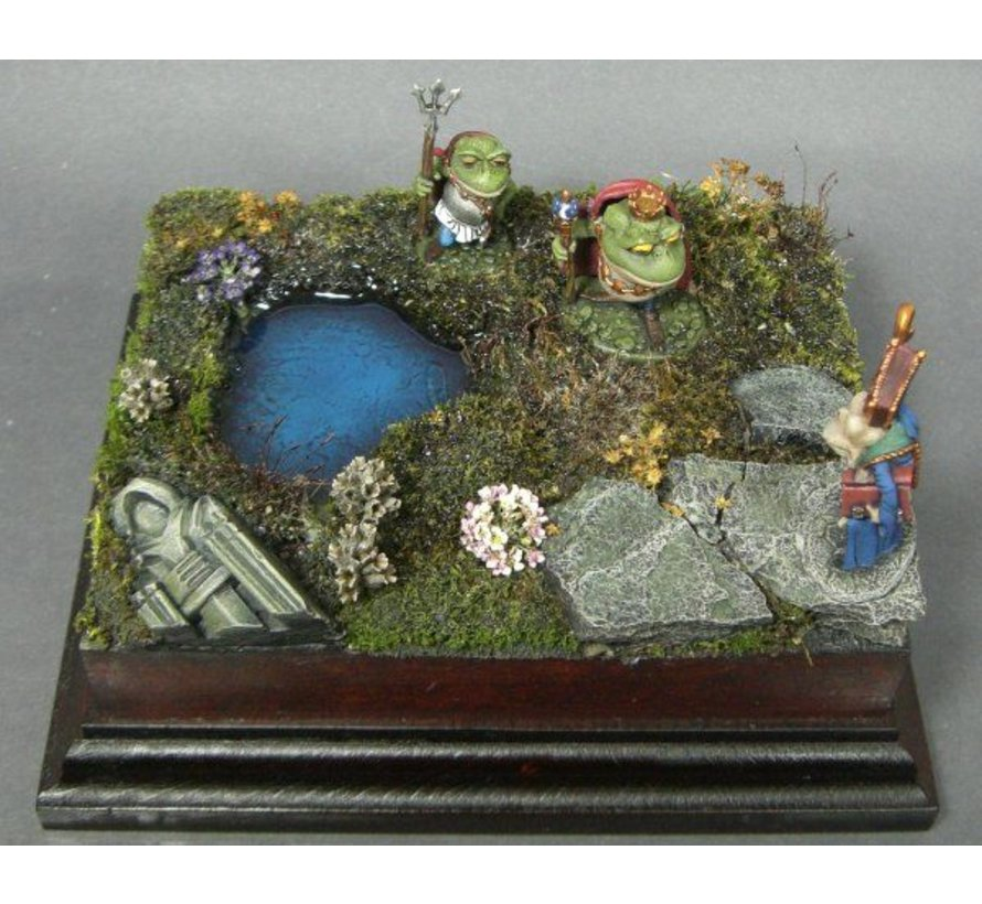 10x18cm diorama sokkel op voet - StSock10x18