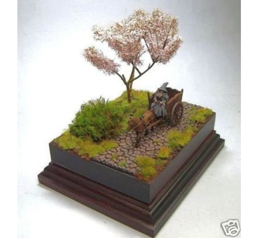 10x18cm diorama sokkel op voet - 10x18cm-Raw-Cavetto