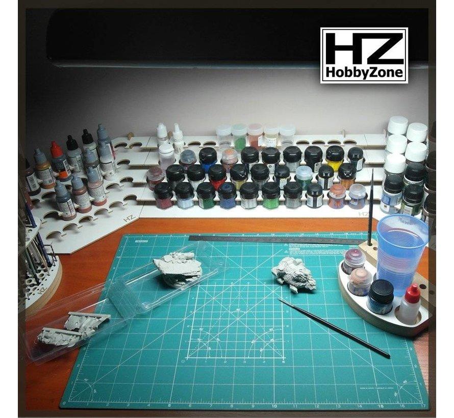 Hobbyzone Large Corner Paint Stand - 26mm potjes verfrek - S2Ns