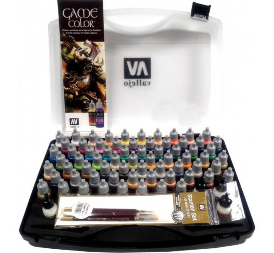 Game Color Basic Set + brushes - 72 kleuren - 17ml - 72172