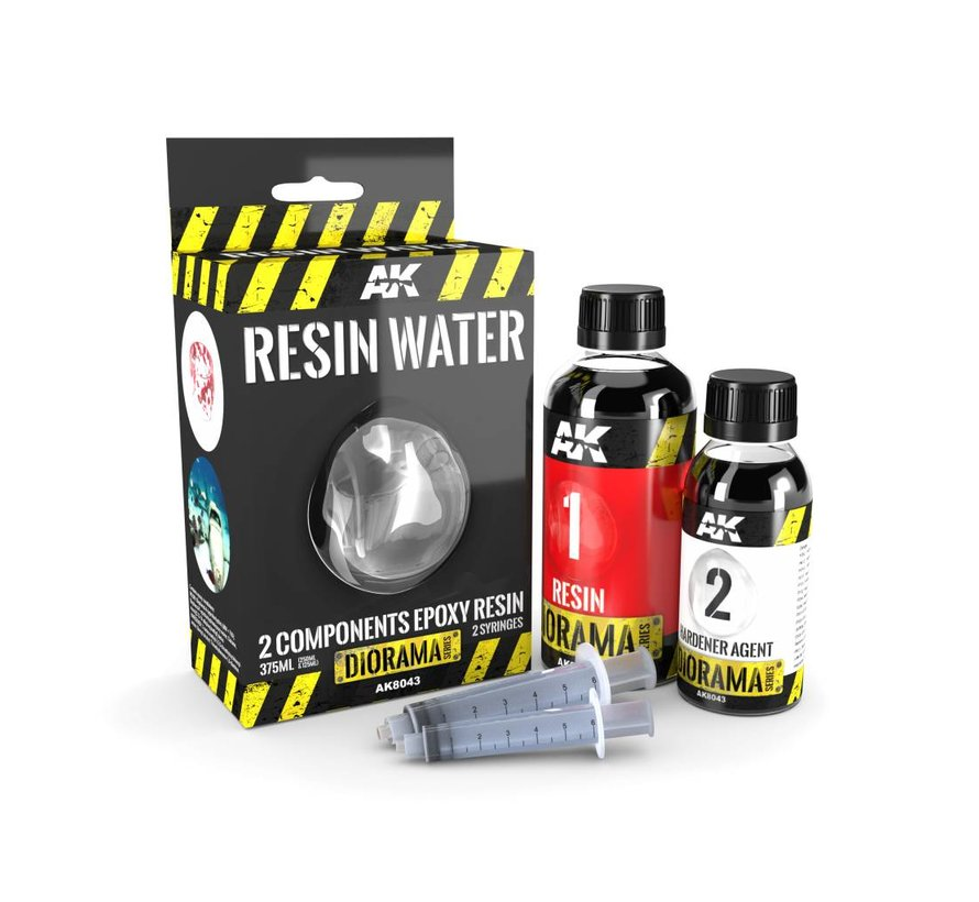 Resin Water 2-Components Epoxy Resin - Diorama Series - 375ml - AK-8043