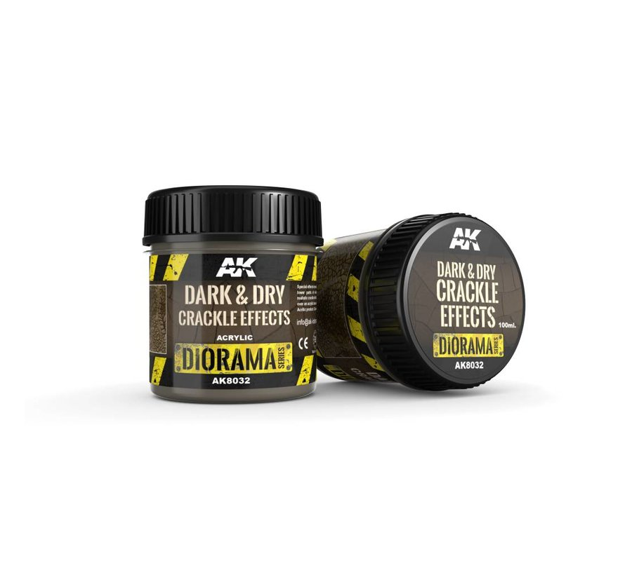 Dark & Dry Crackle Effects - Diorama Series - 100ml - AK-8032