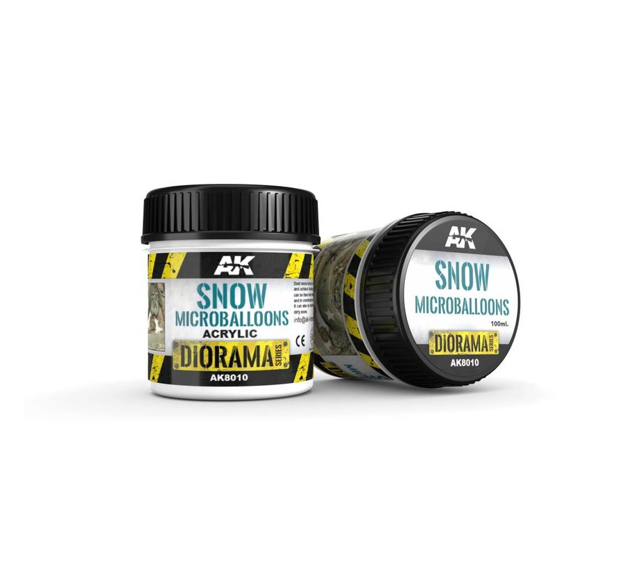 Snow Microballoons - Diorama Series - 100ml  - AK-8010