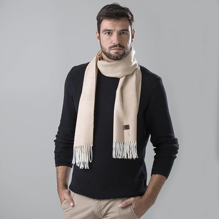 'Fishbone' - Scarf - Cream/Beige