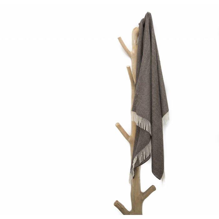 'Fishbone' - Alpaca Plaid - 100% Alpacawol