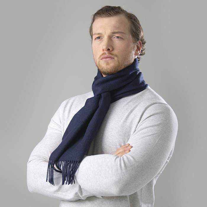 'Royale' - Premium Scarf - Navy Blue
