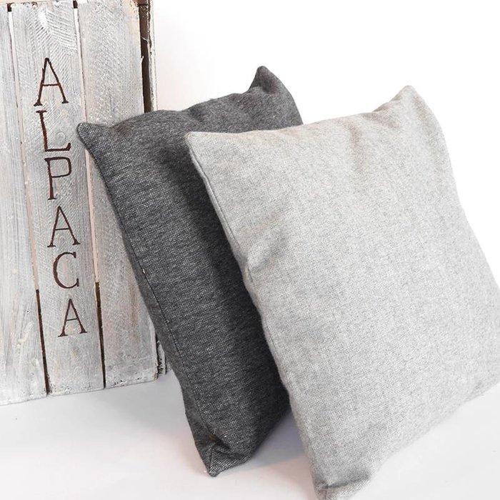 'Nordic Alpaca' - Kussen - Alpacawol - Cool Grey
