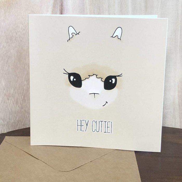 Hey Cutie! Alpaca Love Card - Friendship