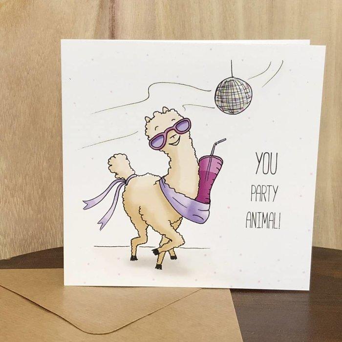 Party Animal Alpaca - Birthday Card