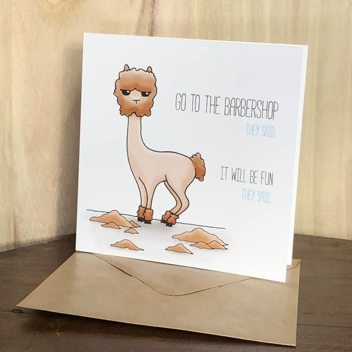 Barbershop Alpaca - Verjaardagskaart
