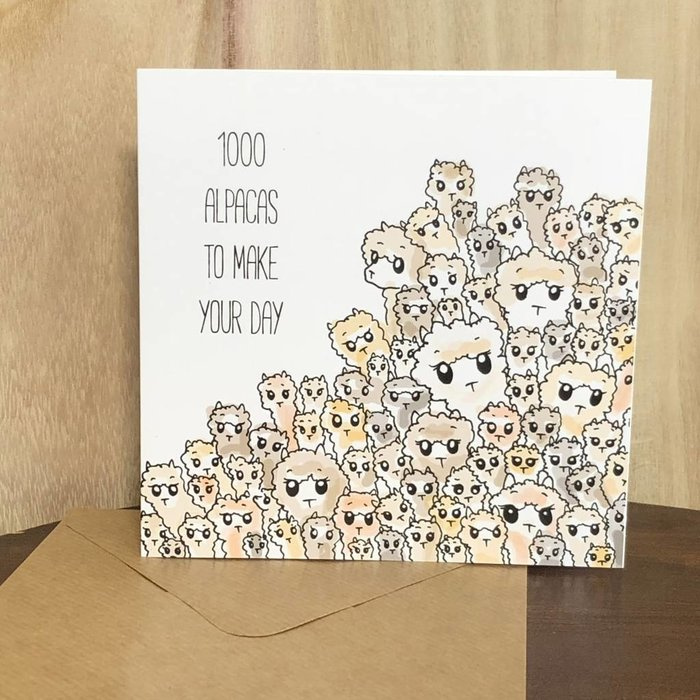 1000 Alpacas - Birthday Card