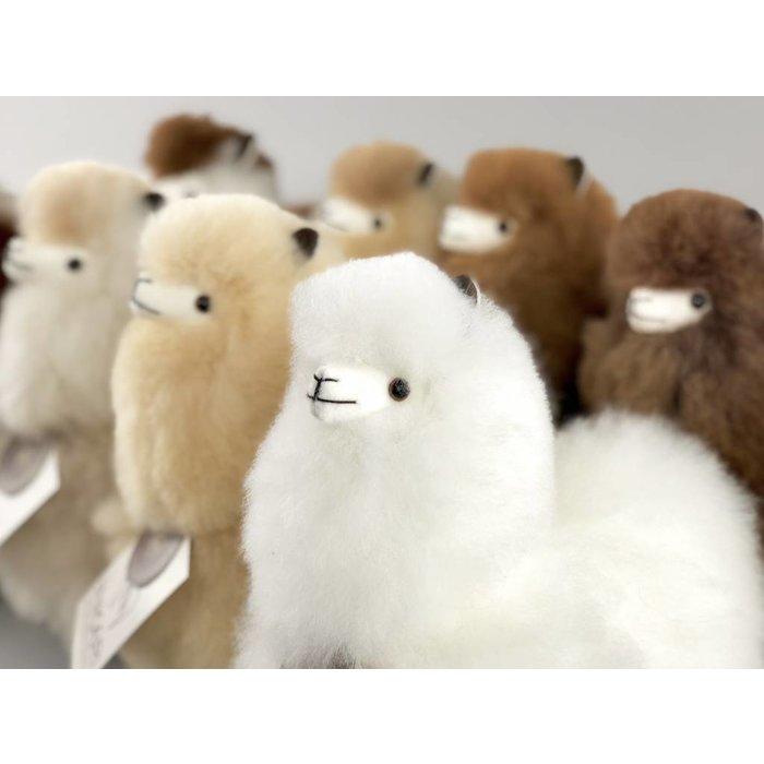 Alpaca Toy - Soft & Fluffy - Handmade in Peru - Hypoallergenic - Ivory white