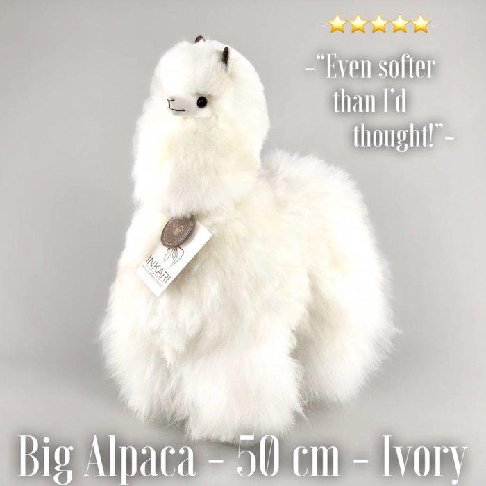 ❤ Grote Alpaca Knuffel ❤  Ivoor