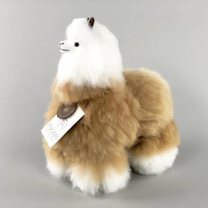 Alpaca Knuffel - Medium - Handgemaakt van Alpacawol - Hypoallergeen - Beige/Ivoor