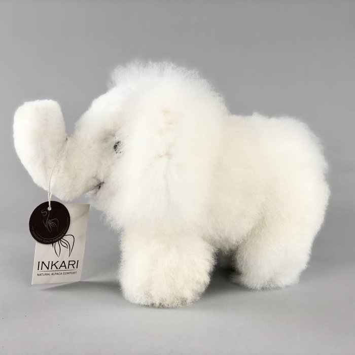 'Eddie the Elephant' - Fluffy Toy - White