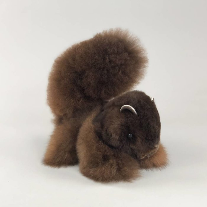 'Scruffy the Squirrel' - Fluffy Toy - Dark Brown