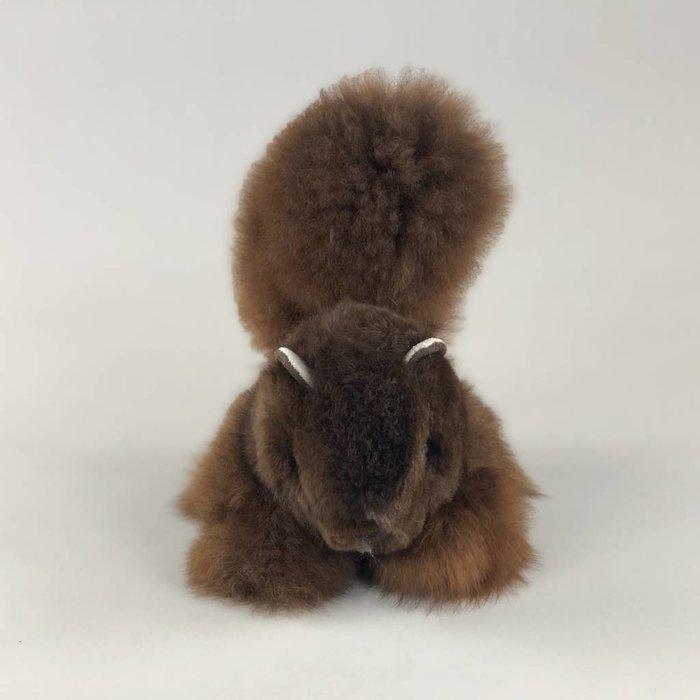 'Scruffy the Squirrel' - Fluffy Toy - Handmade - Alpaca Wool - Dark Brown