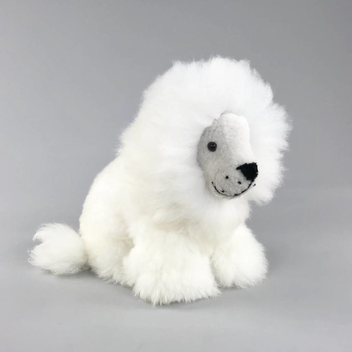 'Lexy the Lion' - Fluffy Toy - Ivory White