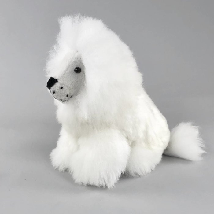 'Lexy the Lion' - Fluffy Toy - Handmade - Hypoallergenic -  Ivory
