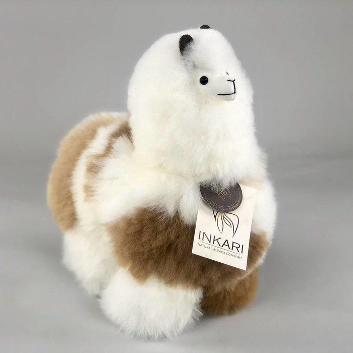 ❤ Alpaca Knuffel ❤  Wit/Bruin Gevlekt