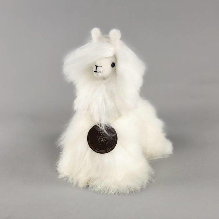 Suri Alpaca Wool Toy - Soft & Fluffy - Handmade in Peru - Hypoallergenic - Ivory