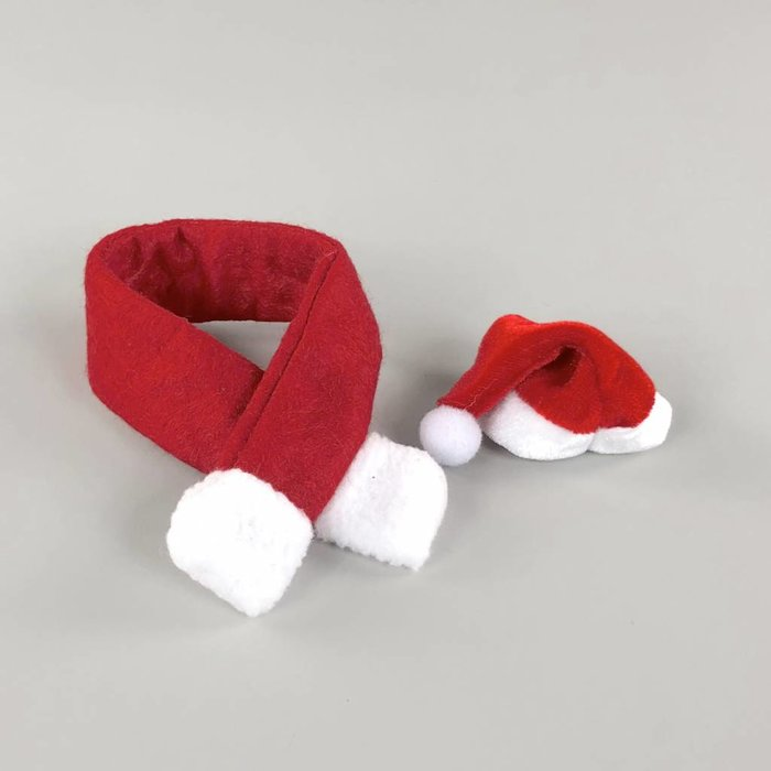 Christmas Hat + Scarf - Alpaca Accessories
