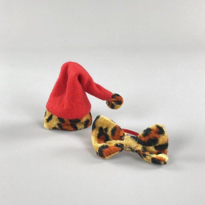 Kerstmuts + Strik - Luipaard