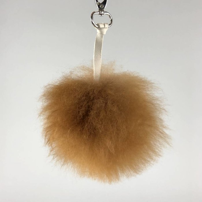 'FluffBall' - Bag Accessory/Keychain  - Brown