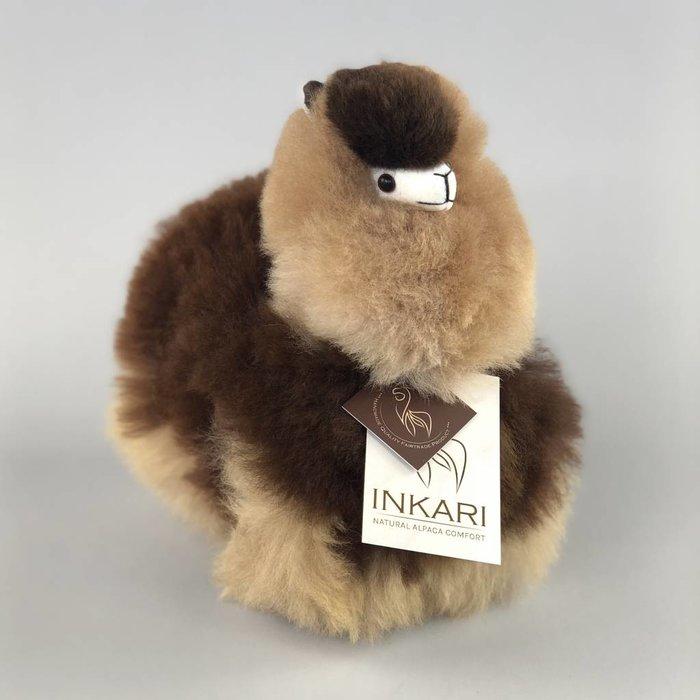 Kleine Alpaca Knuffel - Handgemaakt van Alpacawol - Hypoallergeen - Moccachino