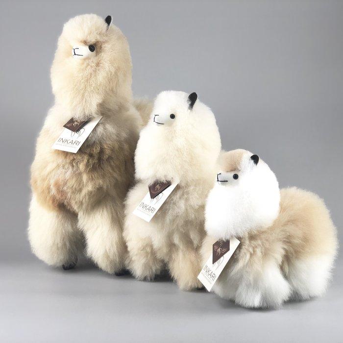 Alpaca Toy - Soft & Fluffy - Handmade in Peru - Hypoallergenic - Beige/Ivory