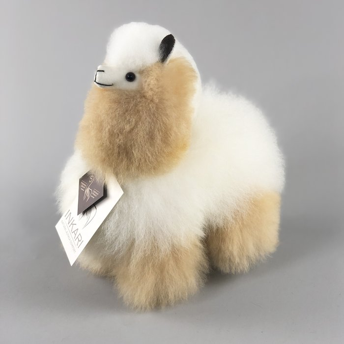 Alpaca Knuffel - Klein - Handgemaakt van Alpacawol - Hypoallergeen - Ivoor/Beige