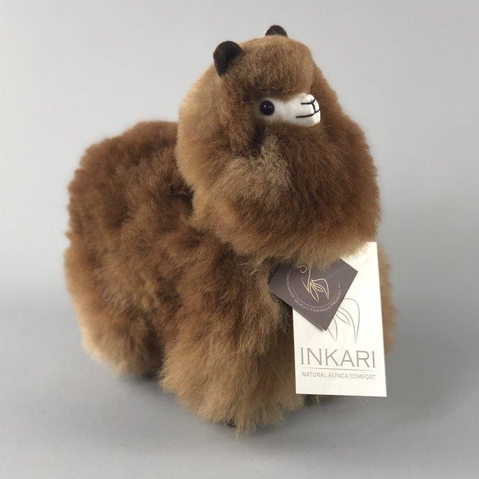 Kleine Alpaca Knuffel - Handgemaakt van Alpacawol - Hypoallergeen - Choco Cream