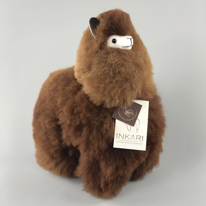 'Alpaca Toy' - Medium - Dark Natural Brown